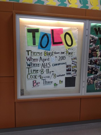 The Tolo board that brightened the 100 hallway in the weeks leading up to the dance.