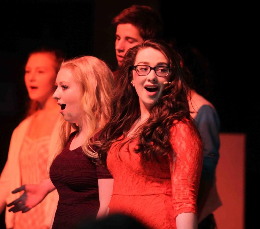 """Junior Jessica Alley and the AHS cast of """"Footloose"""" closes the show with one final song."""