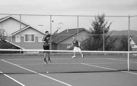 Boys Tennis team still waiting for home court