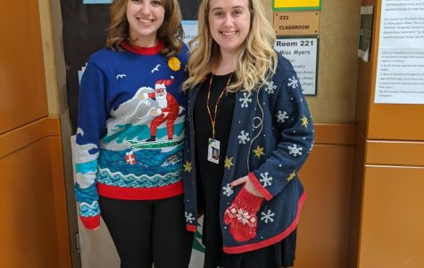 Women of Ares demonstrate sweater spirit