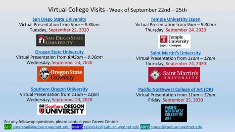 Attend virtual college visits